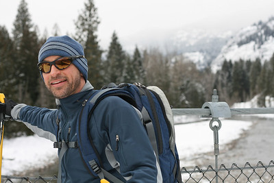 Jeff and my big adventure - skate ski from Mazama to Wolf Ridge.