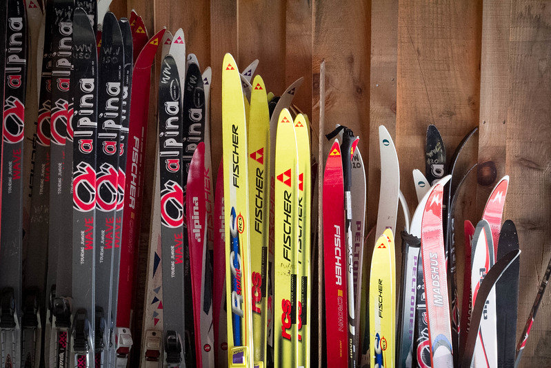 Lots of kids skis