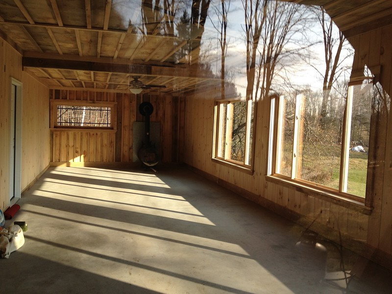 The new warming room/yoga studio, 2011.