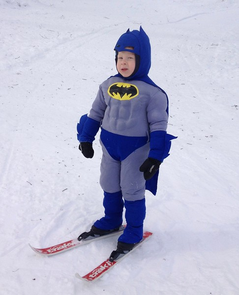 We all felt a little safer the day batman came to ski.