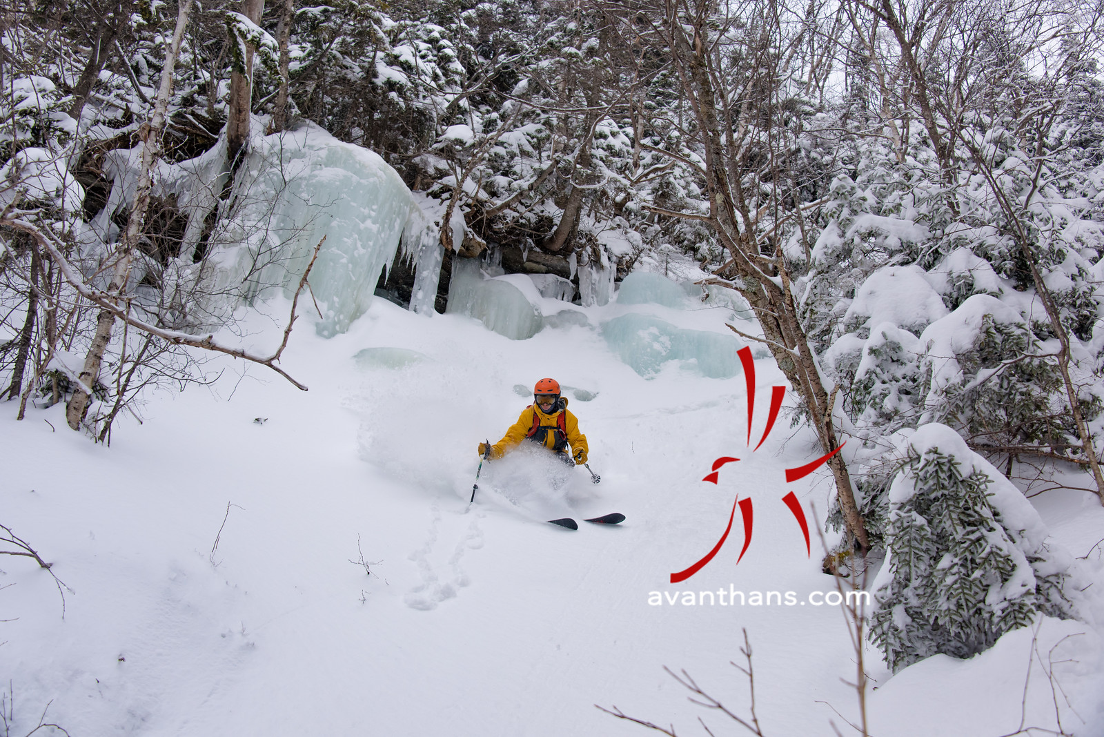 """photo by Hans von Briesen """"Tim McClellan journey'd for 2 hours to get here in hopes of a couple nice turns.  It was an adventure that paid off big."""""""