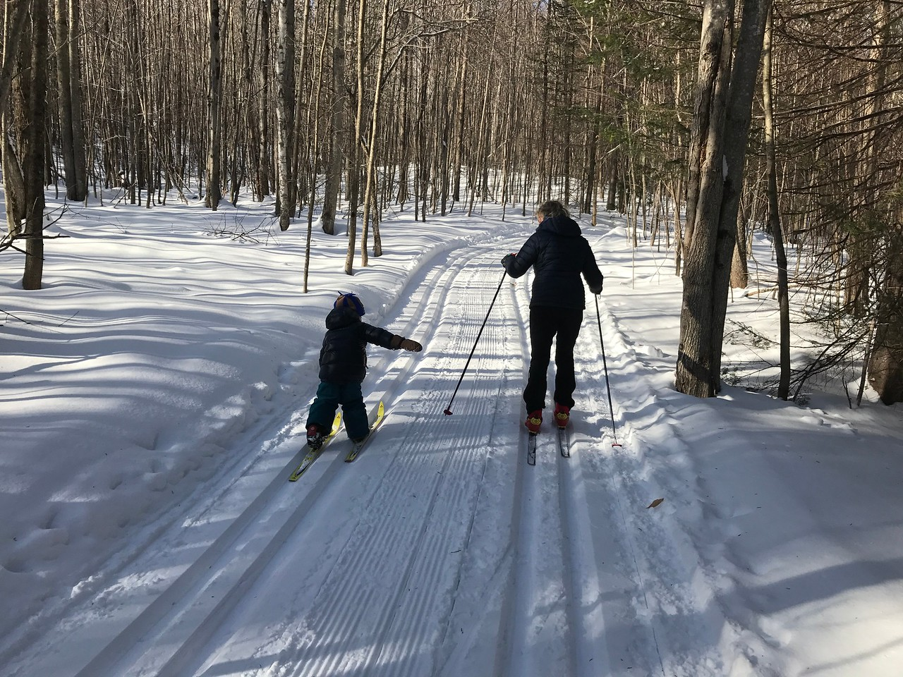 G and I ski down the Grouse