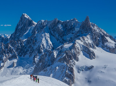 A view of the Grand Jorasses and the Deant du Giant from the Aiguille du Midi