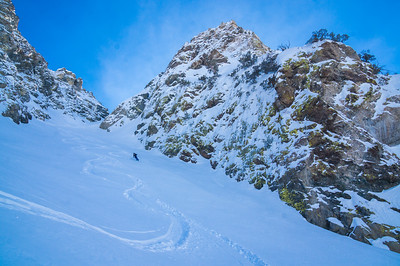 Reverse Peak Couloir.  Eastern Sierra, California