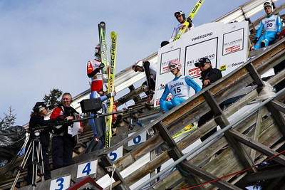 World Cup Ski Flying Vikersund 2009 - Jumper ready in the start gate