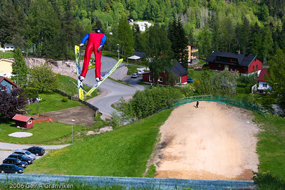 Summer jumping in Gjerpenkollen K-74, Drammen