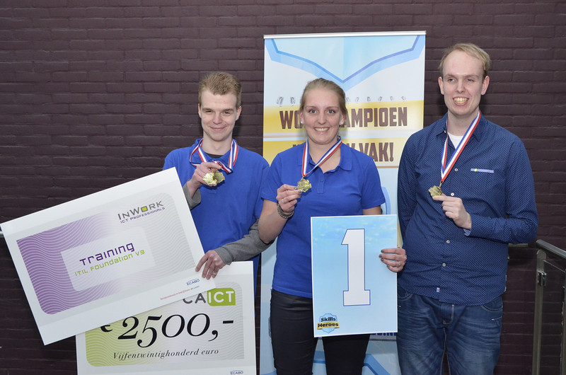 Winnaars Office ICT Team Challenge:<br /> Niek Esselink, Fleur van Schendel, Perry Boerboom