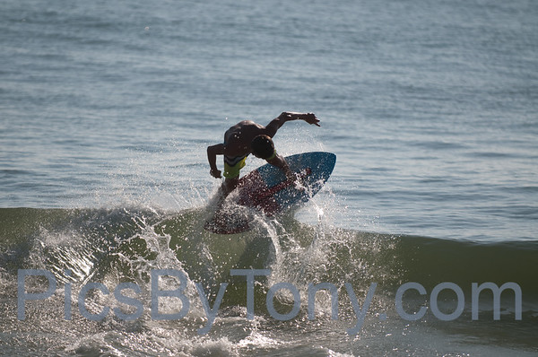 2015 Florida Pro/Am Skimboard practicing session at Vilano Beach, FL on Fri - 08/21/2015