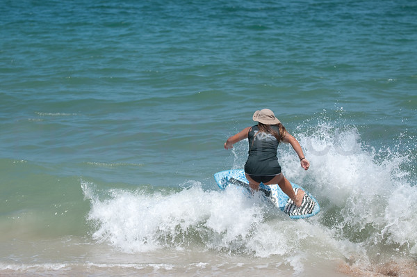 2015 Florida Pro/Am Skimboard competitions for Pro Women at Vilano Beach, FL on Sat - 08/22/2015