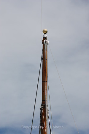 A gold ball on the top of the mast means that the boat is paid for. (2010)