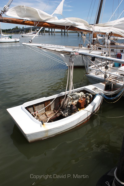 A push boat, used to work the Skipjack on the days when engine power is legal. (2010)