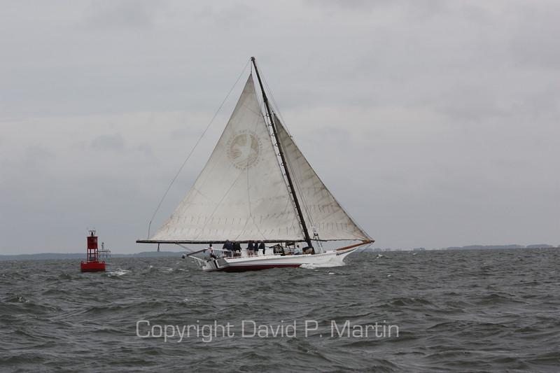 The H. M. Krentz rounding a buoy. (2009)
