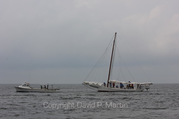 A tow to harbor after the end of the 2012 race.