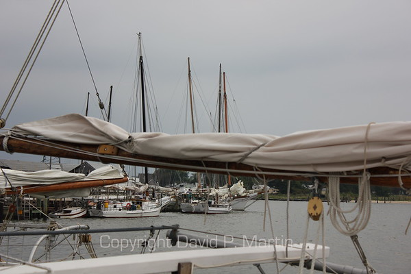 The skipjacks in the harbor before the beginning of the 2012 race.