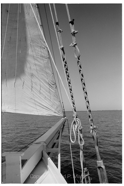 The bowsprit of the Skipjack Somerset. (2008)
