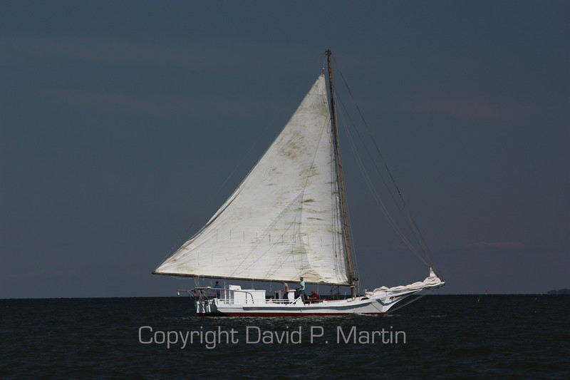 The Skipjack Somerset heads for home after taking third place in the 2010 race.