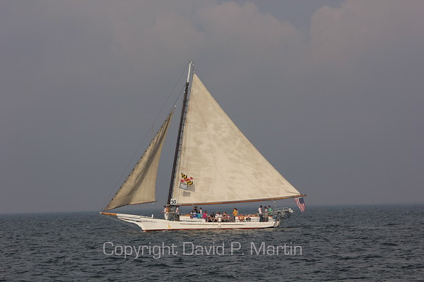 The skipjack Minnie V under sail. (2012)