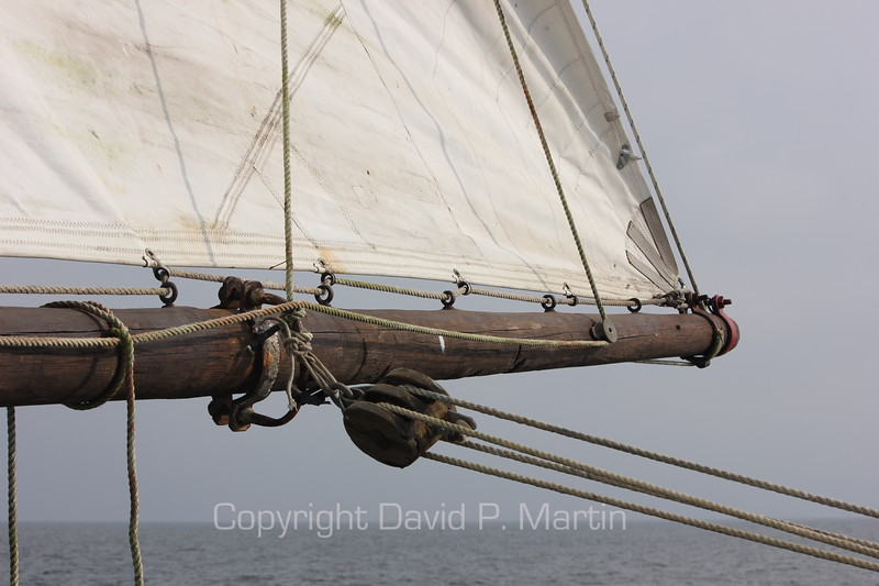 The boom of the skipjack Somerset. (2012)