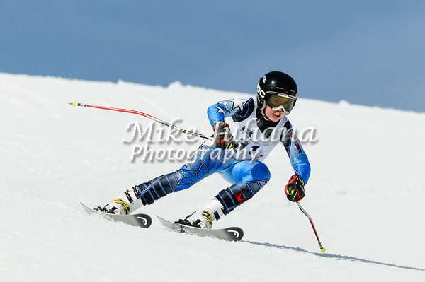 Youth Ski Racers from throughout the Pacific NW compete at the 2013 May Day Race held at Mt Bachelor, OR.