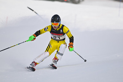 Junior racers compete at the 2011 PNSA Winterstart SL race held at Mt Hood Meadows, OR.