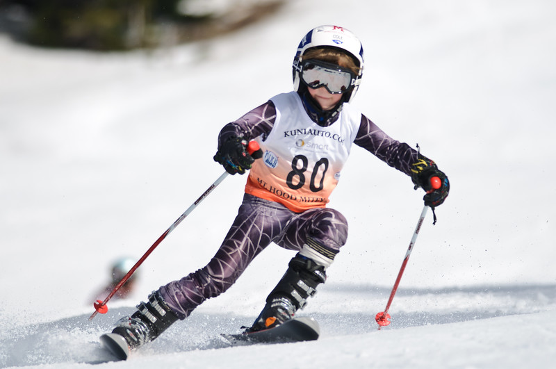 Mitey Mite racers compete at the 2011 Diamond Dual SL race held at Mt Hood Meadows, OR.