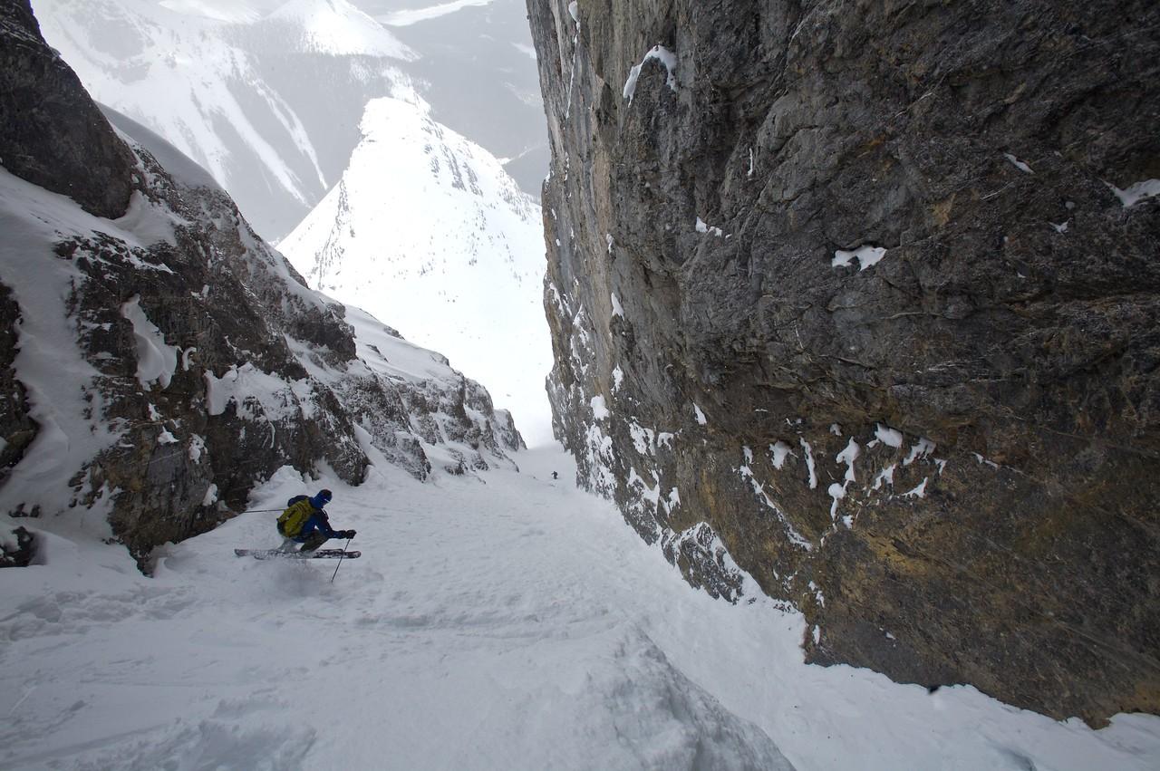 No room for big mountain turns,