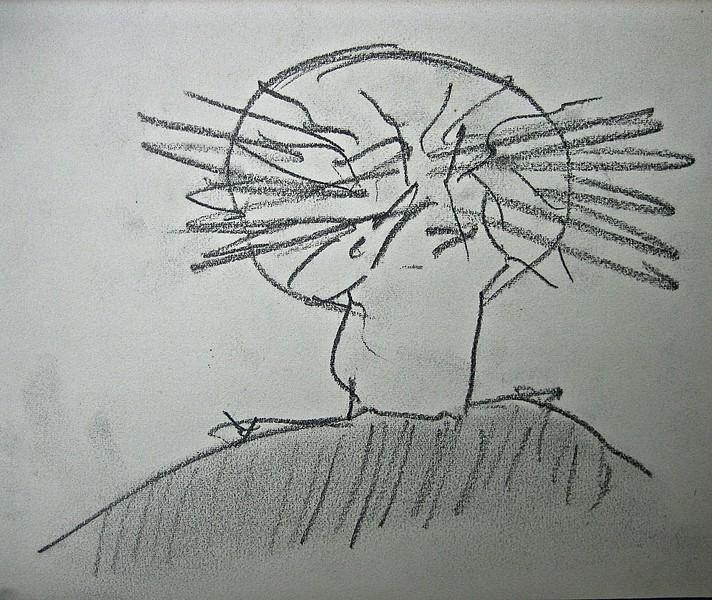 Portræt af kunstneren set bagfra