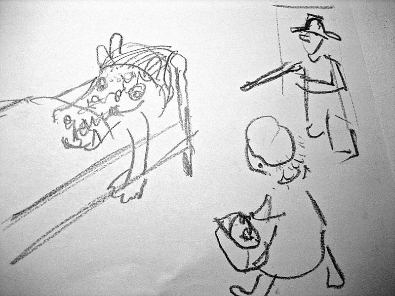 Jægeren skyder ulven