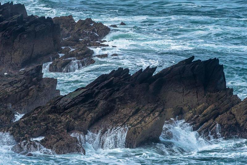 The impressive cliffs of Mad Bay on western Skokholm