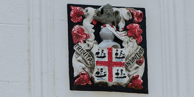 Crest with Coat of Arms on the Skokholm Lighthouse - Corporation of Trinity House of Deptford Strond.