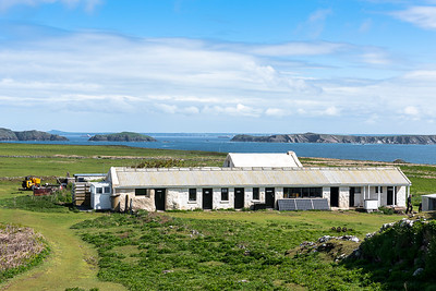 The Skokholm farmhouse - view to Skomer & Marloes