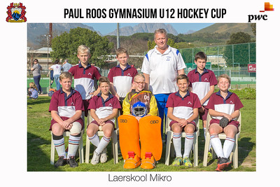 Paul Roos U12 Hockey Cup Team Photos