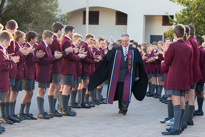 Stellenbosch March 27:  Paul Roos Gymnasium Farewell for the Rector, Mnr Jannie van der Westhuizen. Photo by EJ Langner