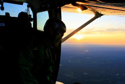 Justin Pabis admires the sun setting over Massachusetts.