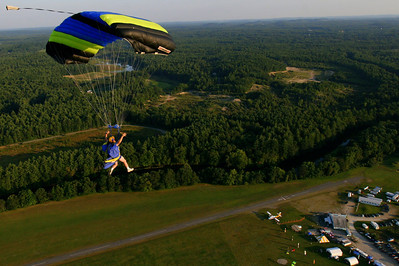 Rick Hough over Skydive Pepperell.