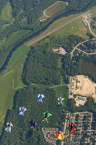 Scott Callantine and Sean Horton lead a small formation to Skydive Pepperell.