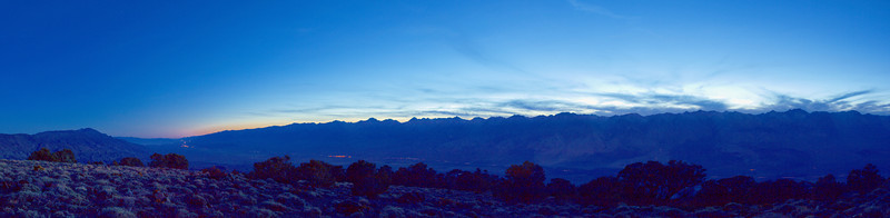 High Sierra, Post Sunset, Moonlight from Mazourka Peak<br /> November 24, 2007