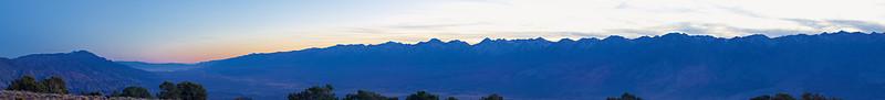 High Sierra, Post Sunset from Mazourka Peak<br /> November 24, 2007