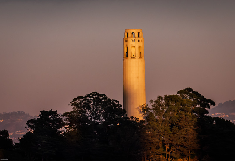 Coit Tower Aglow