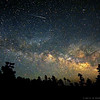 Shooting Star over the Milky Way