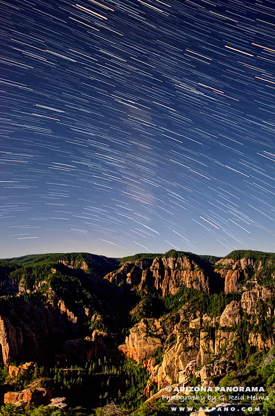 Star Trails over the West Fork