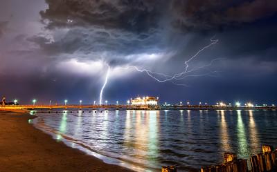 Ocean View Thunderstorm Summer thunderstorm over Ocean View, Norfolk VA.