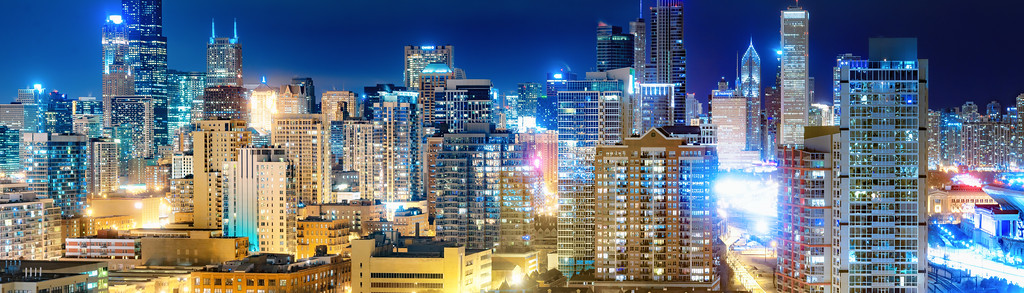 Big City Night Panorama
