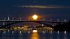 Full moon in Stockholm city