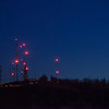 A telephoto shot of the communication towers on Carter's Mountain