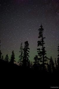 Milky Way, high over Mt. Lola, Northern Sierra