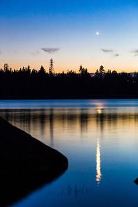 Venus setting over Loon Lake