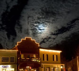 Moon over Nevada City