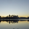 June 26, 2012 - Sunset over Manzanita Lake, Lassen Volcanic National Park, California