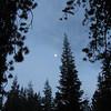 August 5, 2012 - Moon at Manzanita campground, Lassen Volcanic National Park, California